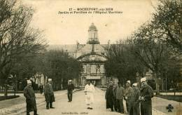 Rochefort Sur Mer Jardin Et Pavillon De L' Hopital Maritime 17 Sabin Martin Editeur C&C 1906  Carte Animée Malades - Rochefort