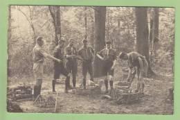 CHAMARANDE, Années 20 : Préparation Du Foyer. Scouts De France. CARTE PHOTO. 2 Scans - Scoutisme