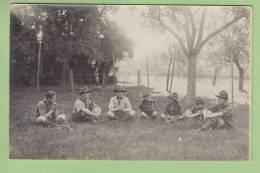CHAMARANDE, Années 20 : La Pause. Scouts De France. CARTE PHOTO. 2 Scans - Scoutisme