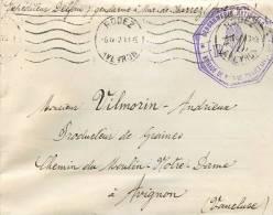 COURRIER DE LA GENDARMERIE NATIONALE DE MUR DE BARREZ 1913 - Postmark Collection (Covers)