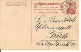CARTE POSTALE, WOHLEN - TRIESTE,  1912,  GEORGES  MEYER E C.  S.A., WOHLEN - Interi Postali