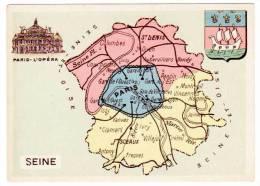 Chromo Contour Départemental, Blason : Seine (Paris) - Trade Cards