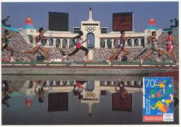 D12368 CARTE MAXIMUM CARD 1993 NETHERLANDS - ATHLETICS RUNNING YOUTH OLYMPICS CP ORIGINAL - Athletics