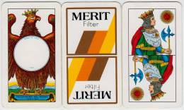 PLAYING CARDS MERIT DAL NEGRO 40 PLASTIFICATE TELATE - Cartes à Jouer