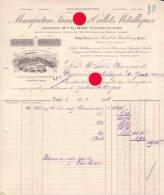 PARIS Manufacture Française D' Oeillets Métalliques 1908 Usine à Ivry Sur Seine - Factures & Documents Commerciaux