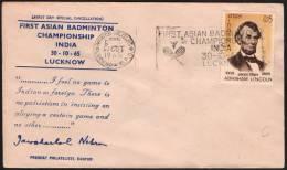 INDIA LUCKNOW 1965 - 1st ASIAN BADMINTON CHAMPIONSHIP - Badminton