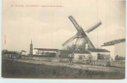 ILE DE RE  - Saint Clément, Eglise Et Moulin Barillon. - Ile De Ré