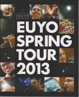 Brochure / Broschüre European Union Youth Orchestra Spring Tour 2013 - Conductor Vladimir Ashkenazy - Andere