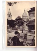 75 Paris - Le Sacré Coeur De Montmartre - Vue Prise Avec Objectif SOM BERTHIOT (1) - Animé Peintre Tableau - CPSM - Sacré Coeur