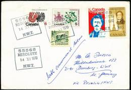 ARCTIC, CANADA, 4 Markinks: 55568 Resolute N.W.T, 14.11.1970 !! - Unclassified