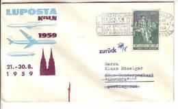 GOOD BELGIUM LUPOSTA Cover 1959 - Airmail