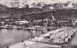 CH - Luzern, Mit Alpen (animation, Tramway) - LU Lucerne