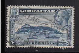 Gibraltar Used Scott #99 3p Rock Of Gibraltar, Perf 14  - George V - Gibraltar
