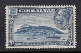 Gibraltar MH Scott #99 3p Rock Of Gibraltar, Perf 14  - George V - Gibraltar