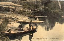 Condé Sainte Libiaire : Le  Grand Morin, Pêcheur - France