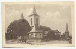 WINTZENHEIM (HAUTE RHIN - 68) - CPA - EGLISE - VOITURE - Wintzenheim