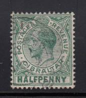 Gibraltar Used Scott #66 1/2p George V, Green - Gibraltar