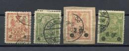 Poland 1915 Mi 7-10 Used Overprint - ....-1919 Provisional Government