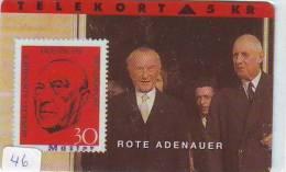 Timbres Sur Télécarte STAMPS On Phonecard Postzegel Op Telefoonkaart (46) - Timbres & Monnaies