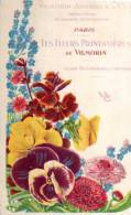 Carte Pub VILMORIN ANDRIEUX Et Cie Paris Les Fleurs Printanieres DeVilmorin, Myosotis, Pensees, Paquerettes - Publicité