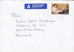 Norway Prioritaire Par Avion Label SANDNESSJØEN 2003 Cover Brief To Denmark Staatliche Gesundheitswesen - Briefe U. Dokumente