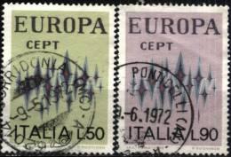 Italia 1972, Europa (o), Serie Completa, Annulli Coevi - Europa-CEPT
