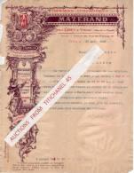 Lettre Superbement Illustrée De 1907 - CIREY-SUR-VEZOUZE - Imprimerie-Lithographie-E Stampage-Cartonnage - Zonder Classificatie
