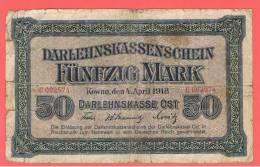 ALEMANIA - GERMANY - 50  Mark 1918 RC  P-R132 - [ 3] 1918-1933 : República De Weimar