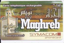 MAGHREB - Carte Téléphonique Rechargeable - 7,5 € - Frankrijk