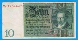 ALEMANIA - GERMANY -  10 Reichmark 1929 EBC  P-180 - [ 3] 1918-1933 : República De Weimar
