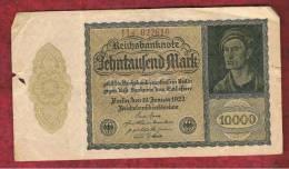 ALEMANIA - GERMANY -  10.000 Mark 1922 MBC  P-72  Serie  7B - [ 3] 1918-1933 : República De Weimar