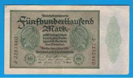 ALEMANIA - GERMANY -  500.000 Mark 1923 SC  P-88a - [ 3] 1918-1933 : República De Weimar