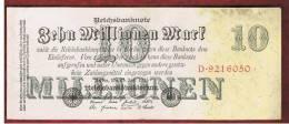 ALEMANIA - GERMANY -  10.000.000 Mark 1923 EBC    P-96 - [ 3] 1918-1933 : República De Weimar