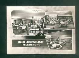 Allemagne - MAGDEBURG - Hotel International - Pilsner Quelle  (Verlag Konsum Foku ) - Magdeburg