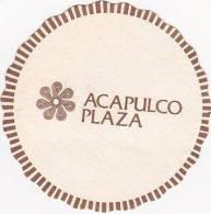 MEXICO ACAPULCO PLAZA HOTEL VINTAGE LUGGAGE LABEL - Hotel Labels