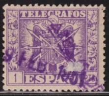 España Telegrafos 1949 Edifil 90 Sello º Escudo De España Nº Control Al Dorso 1p Spain Stamps Timbre Espagne Briefmarke - Officials