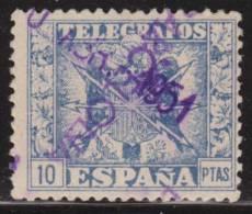 España Telegrafos 1949 Edifil 92 Sello º Escudo De España Nº Control Al Dorso 10p Spain Stamps Timbre Espagne Briefmarke - Officials