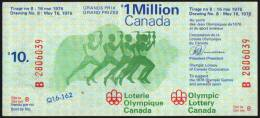 CANADA 1976 - OLYMPIC GAMES MONTREAL ´76 - OLYMPIC LOTTERY CANADA - Olympische Spelen