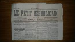 Le Petit Républicain De Paris - Politique Quotidien N°285 Du Mercredi 13 Octobre 1880 - Journal - 1850 - 1899