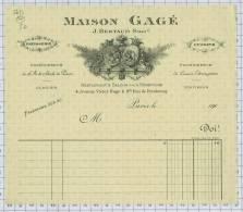 Maison GAGE, Succ De BERTAUD Rue Victor Hugo Et Rue De Presbourg à Paris Dept 75 - Alimentaire