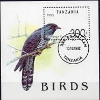 WWF Vögel Naturschutz 1992 Tanzania Block 190 O 7€ Vogel Kuckuck Blocchi Bf M/s Fauna Bloc Birds Sheet Of Tansania - Tanzania (1964-...)