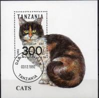 WWF Katzen-Rassen 1992 Tansania Block 201 O 3€ Katze European Cat Blocchi Bf M/s Cats Bloc Fauna Sheet Of Tanzania - Tanzania (1964-...)