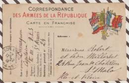 3AC782 MILITARIA CORRESPONDANCE MILITAIRE 1914   2  SCANS - War 1914-18