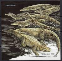 WWF Naturschutz 1996 Krokodil Tanzania Block 316 O 3€ Panzer-Echsen Blocchi M/s Bf Flora Nature Bloc Sheet Of Tansania - Tanzania (1964-...)