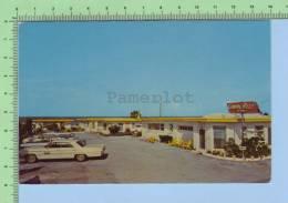 Old Car Daytona Beach Fl. USA (  Coral Reef Beach Motel)  2 Scan Carte Postale Post Card - Daytona