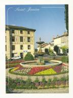 cp, 87, Saint-Junien, Fontaine fleurie au Centre Ville