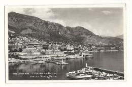 Cp,  Monaco, L'Entrée Du Port Et Vue Sur Monte Carlo - Unclassified