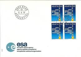 Suisse FDC 1979 * Ariane - Agence Spatiale Européenne * Oblitéré Du 1er Jour - FDC