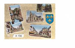 02 La Fere Cpsm 5 Vues + Blason - France