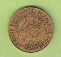 Pièce - Cameroun - Etat De L´Afrique Equatoriale - 5 Francs - 1958 - Cameroun